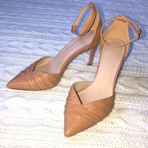 ASOS Pointed Brown Strapped Heels